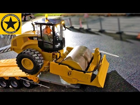 Toy Truck Videos👍 CHILDREN BRUDER Trucks CATERPILLAR Walzenzug