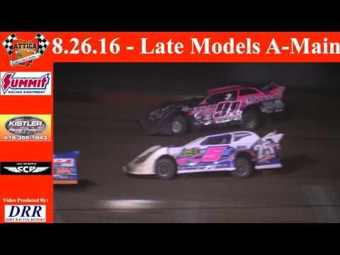 8.26.16 Attica Raceway Park Late Models A-Main