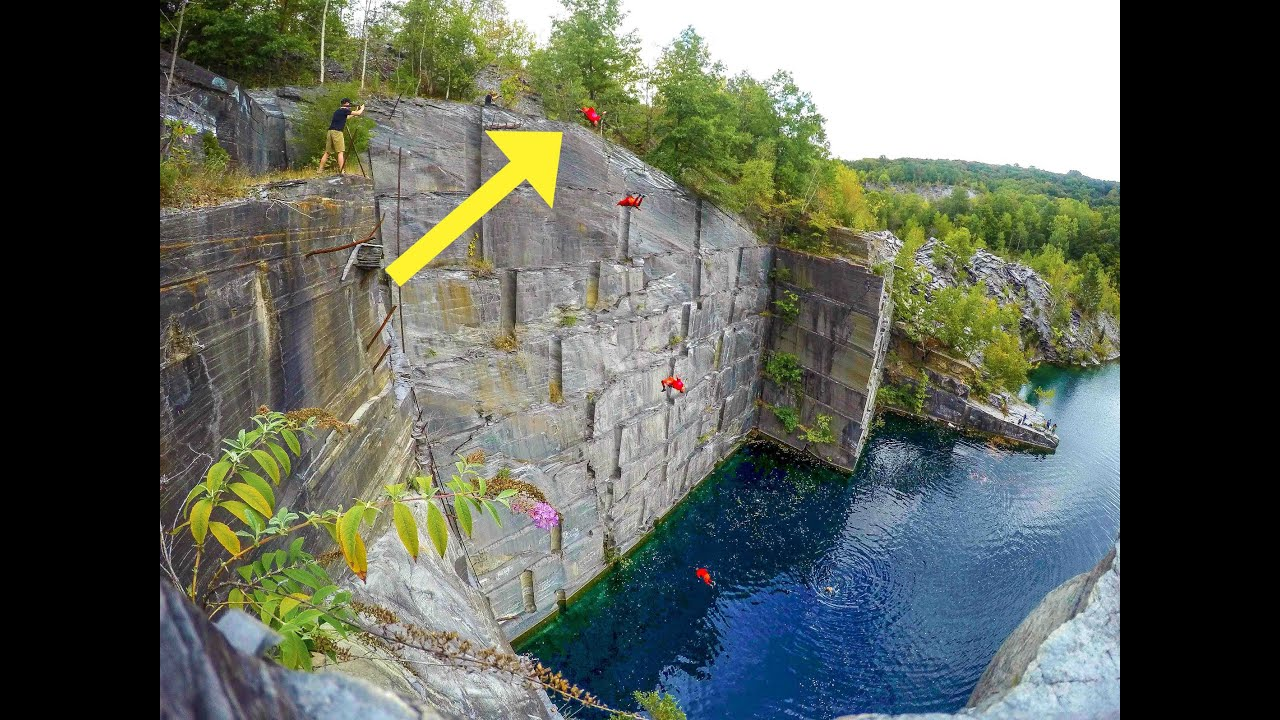 World Record Cliff Jumping 105 Foot Double Backflip