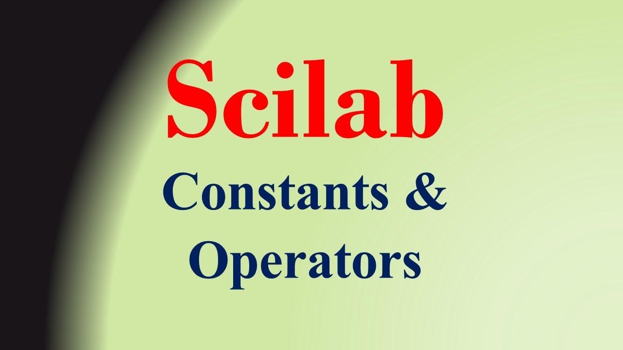 Scilab constants
