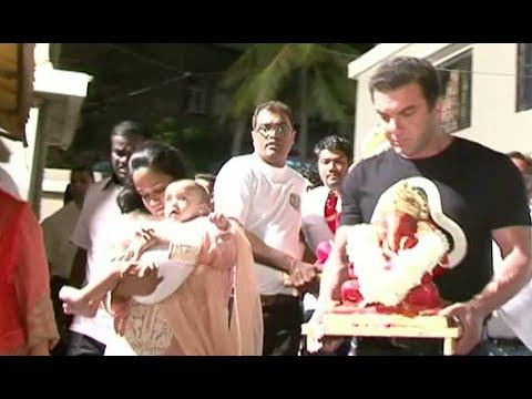 Salman Khan's Ganesh Visarjan 2016 | UNCUT