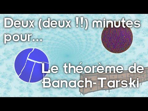 Deux (deux !) minutes pour le théorème de Banach-Tarski