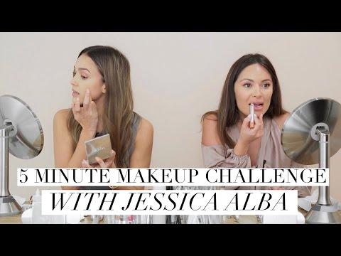 JESSICA ALBA 5 MINUTE MAKEUP CHALLENGE