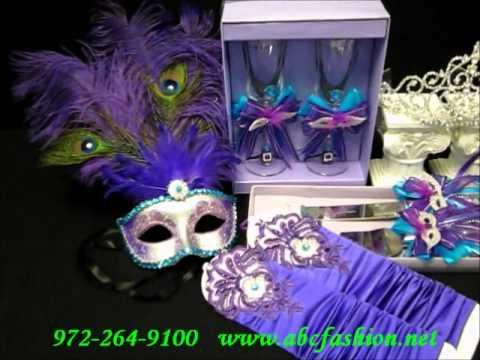 595 QuinceaneraSweet 16 Package Deal in Masquerade Theme by www