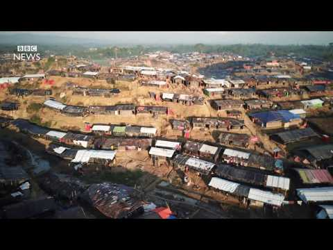 Rohingya crisis: Drone shows huge refugee camps - BBC News