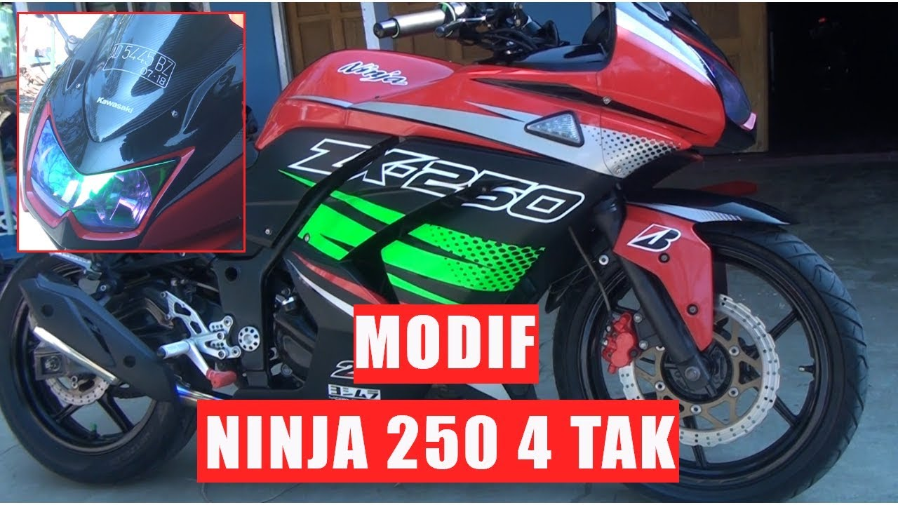 Ninja 250 Karbu Modif Simple Red Cutting