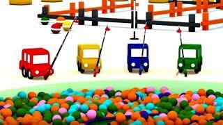 Lehrreicher Zeichentrickfilm - Die 4 kleinen Autos - Wir bauen ein Boot