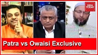 Sambit Patra Vs Owaisi Exclusive Debate On #AyodhyaVerdict  | News Today With Rajdeep