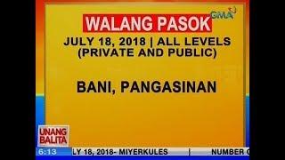 UB: Walang pasok ngayong araw sa Bani, Pangasinan, all levels private and public
