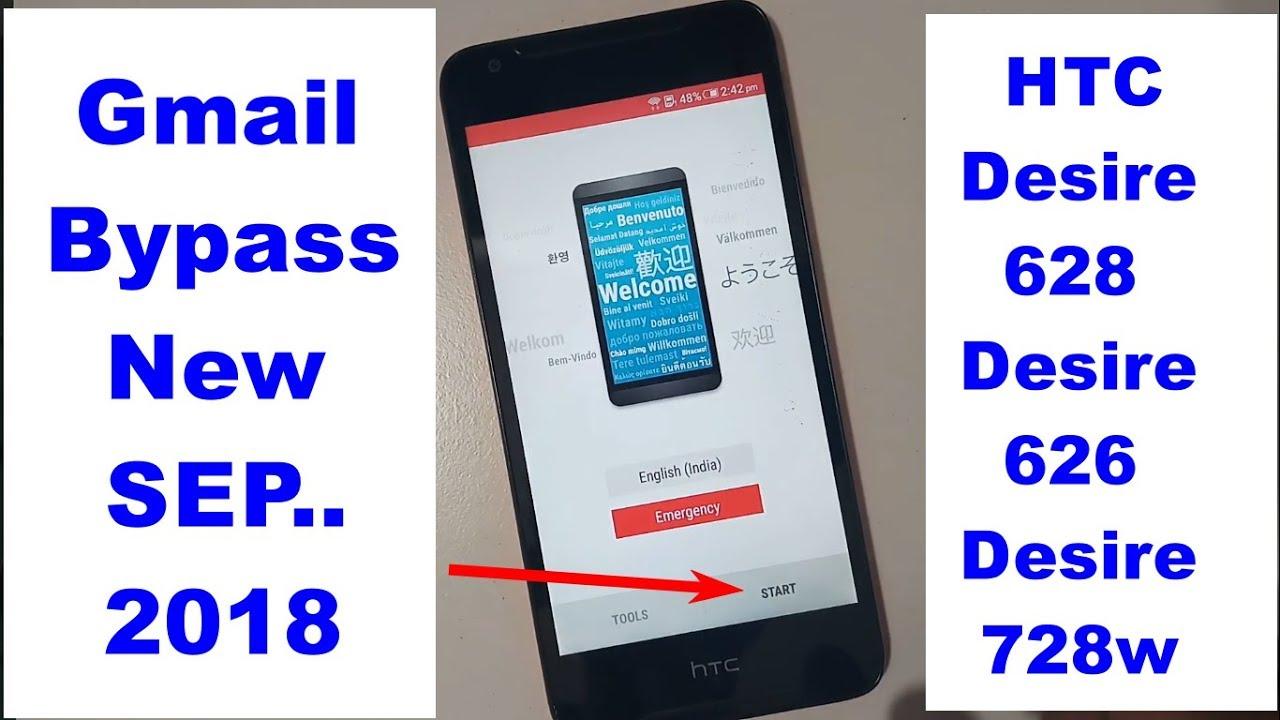 HTC Desire D628 D626 D728w Google Bypass frp reset 2018 NEW TRICK