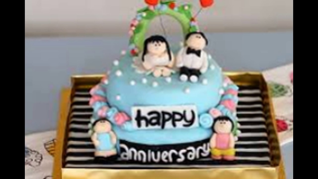 Happy anniversary cakes for couples   YouTube Happy anniversary cakes for couples