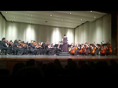Jenna conducting the High School orchestra in South Haven Mi