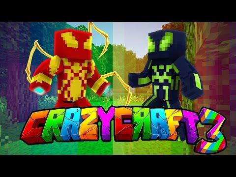 Oops Club Minecraft Crazy Craft 3.0 - Tập 37: CUỘC CHIẾN CỦA 2 NGƯỜI NHỆN SIÊU CẤP