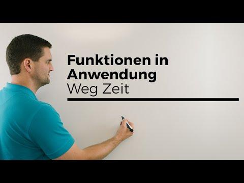 Funktionen in Anwendung, Weg Zeit, was ist dann Geschwindigkeit, Analysis | Mathe by Daniel Jung