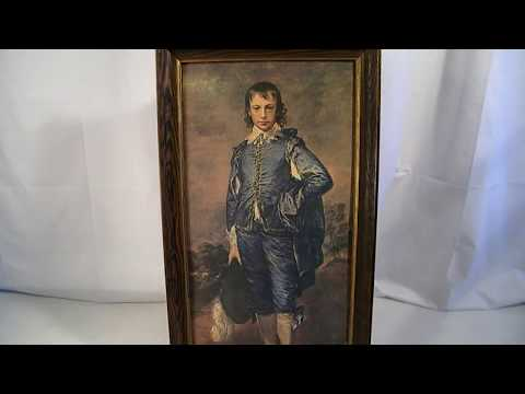 VINTAGE MID CENTURY BLUE BOY GAINSBOROUGH MUSEUM PRINT EDITION PICTURE ART