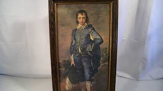 VINTAGE MID CENTURY BLUE BOY GAINSBOROUGH MUSEUM PRINT EDITION PICTURE ART
