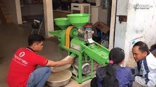 Test Máy xay xát gạo mini chạy điện