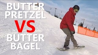 Butter Pretzel VS Butter Bagel - Snowboard Trick Tutorial