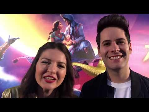 Aladdin - i vip italiani cantano Il Mondo è Mio alla Prima del film