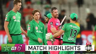 Sixers seal top spot, end sorry Stars' season | KFC BBL|10