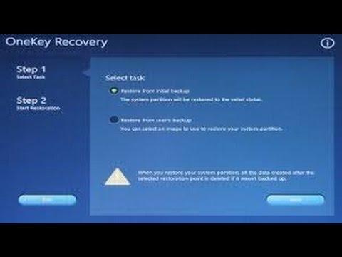 How to factory reset a Lenovo YOGA 2