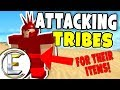 Attacking Tribes - Roblox Tribe Survival Game (🗿METEOR🗿 Booga Booga) Making Friends EP 4