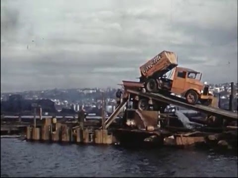Construction and opening of Ballard Bridge, 1940