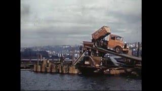construction and opening of ballard bridge 1940