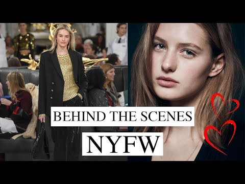 Life Of A Model | Behind The Scenes At New York Fashion Week | Sanne Vloet
