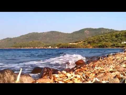 Quiet beach at Lesvos   Skala Sikamineas   August 2014 (HD)