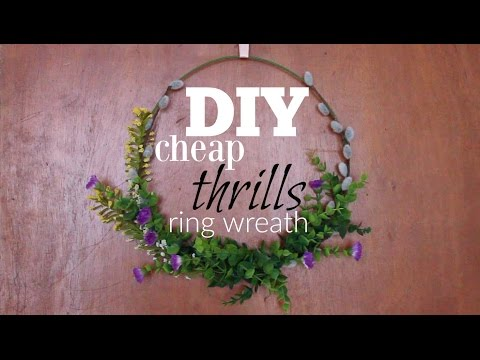 DIY Ring Wreath | Cheap Thrills