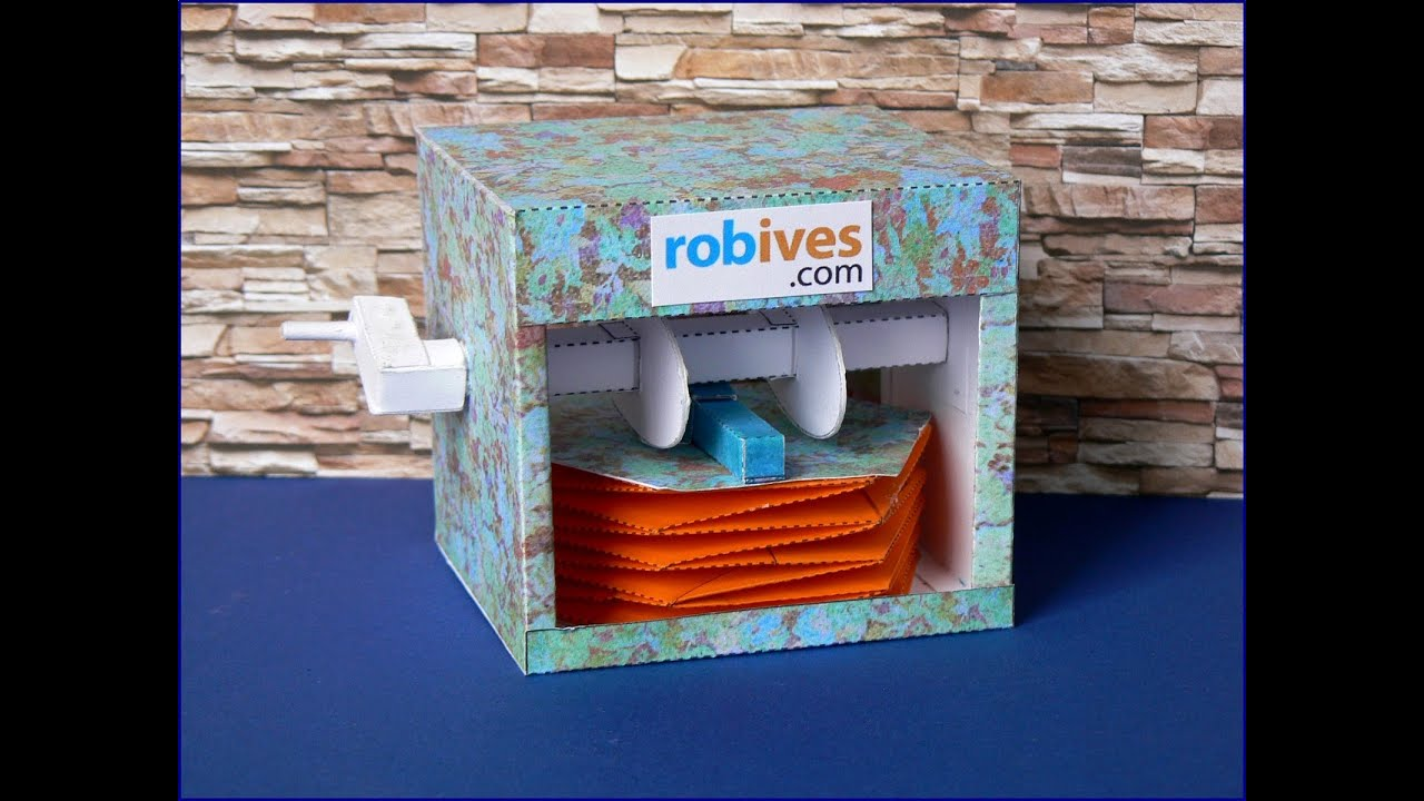 Papercraft Twitter Bird Box, paper model