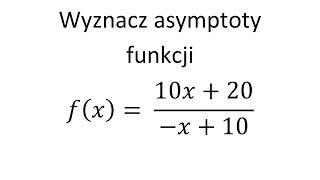 Asymptoty Funkcji Cz.2