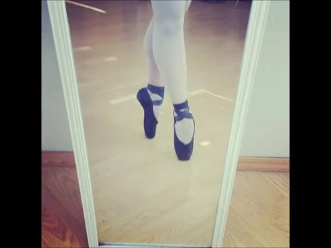 in my black pointe shoes