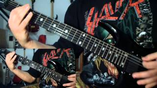 Slayer - Reign in Blood (full album guitar cover with all guitar parts and solos)