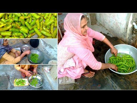 TALI HUI HARI MIRCH KA ACHAAR    Fried green chilli pickle