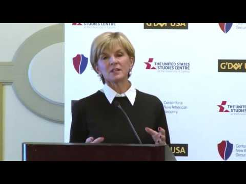 Julie Bishop - Australian perspective on Asian security - G'DAY USA 2016