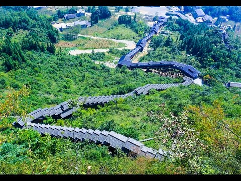 World's Longest Sightseeing Escalator, Hubei Province, Central China