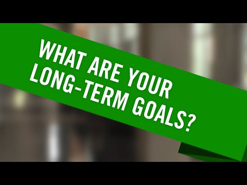 What are your long-term goals after you graduate from college?