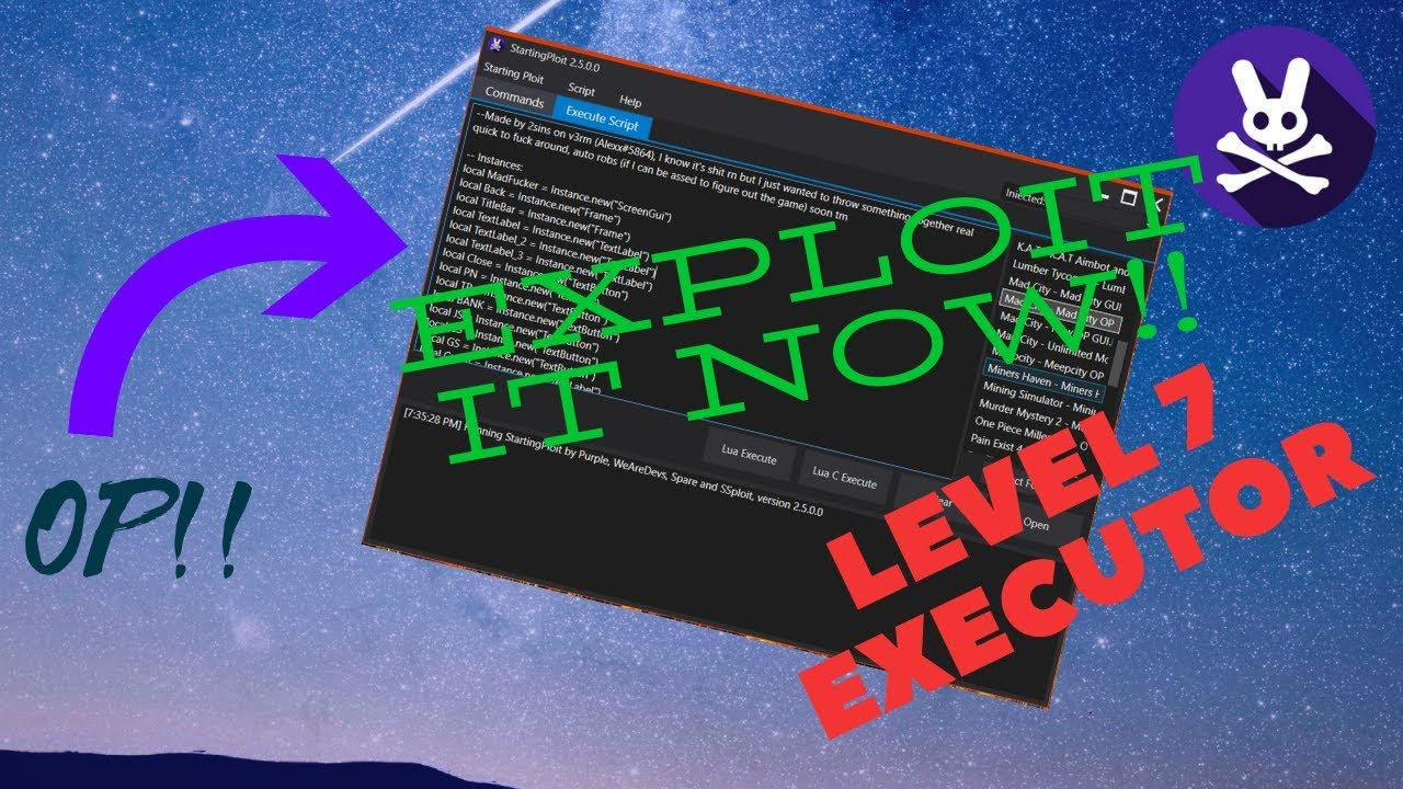 💯💯 *NEW* 2019 - V2 5 0 0 Working Roblox Exploit ✅✅| Level 7 Executor Free  And More !?!