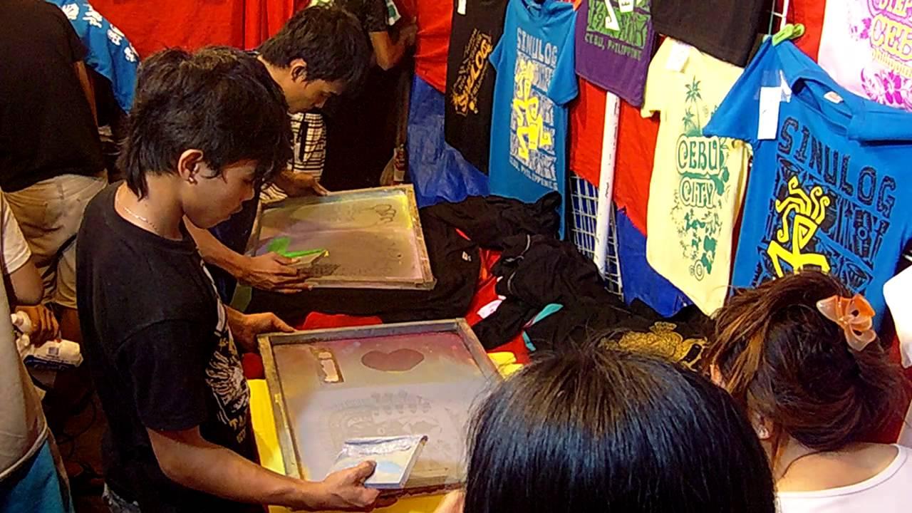 Souvenir T Shirt Silk Screen Printing In Cebu Sinulog 2012