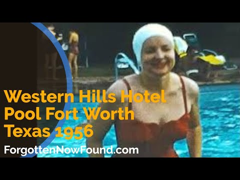 Western Hills Hotel Pool Fort Worth Texas 1956 Found 8mm Home Movie Film