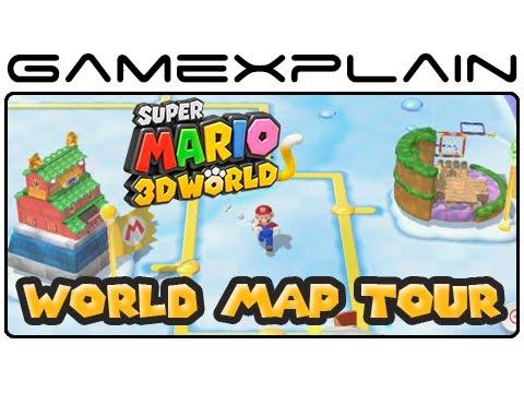 Super Mario 3D World Map Super Mario 3D World   World Map Tour (Wii U)   YouTube