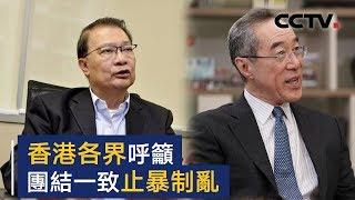 香港各界呼吁团结一致止暴制乱 | CCTV