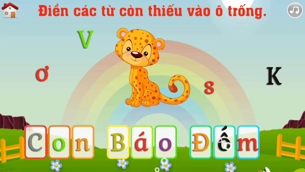 Điền các từ còn thiếu vào ô trống || Học tiếng Việt cùng bé