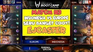 EJCASTER - Indonesia VS Europe Match 3! Comeback2an Ampe Puyeng! AWC Bootcamp 2018