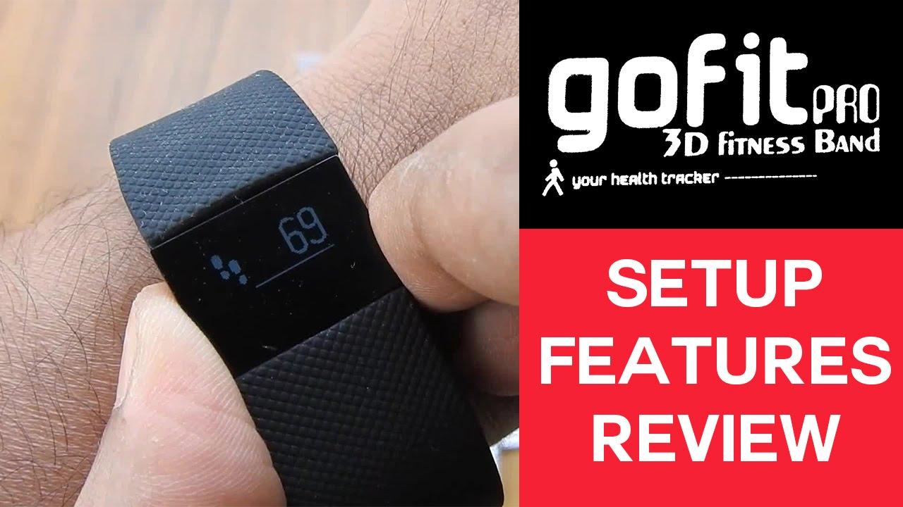 EnerZ Gofit Pro 3D Fitness Band Setup & Features Review [veryfit 2 0]