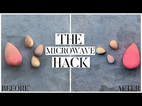 ⏰ HOW TO CLEAN YOUR BEAUTYBLENDER IN ONE MINUTE: The Microwave Hack