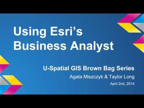 Using Esri's Business Analyst