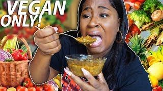I ONLY ATE VEGAN FOODS FOR 24 HOURS!!!